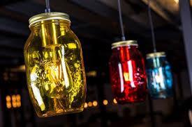 jar lights colourful glass jam jar ceiling lights