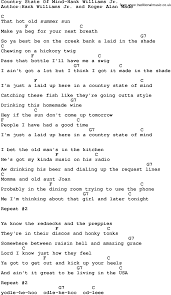 country music country state of mind hank williams jr lyrics and chords