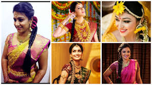 traditional hair accessories easy simple hairstyles for silk saree