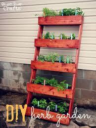 diy vertical herb garden herb garden planter plans home outdoor decoration