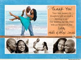 starfish wedding thank you card photos collage tropical
