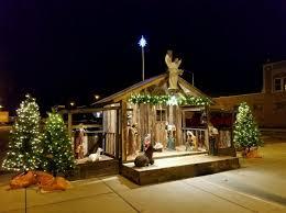 du quoin to dedicate nativity scene light christmas tree du