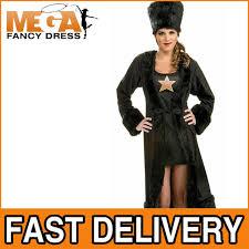 James Bond Halloween Costume Black Russian Spy Ladies Fancy National Dress James Bond Spy Movie
