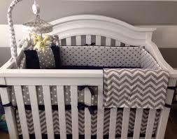 Gray And White Chevron Crib Bedding Navy Blue Baby Bedding Gray All Modern Home Designs Decoration