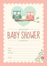 owls baby shower owl baby shower invitations pink for girl 24 count