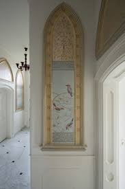 288 best murals trompe l oeil images on pinterest grisaille mural shrikes rollers and fragments of ornamental rose branches in this entrance hall