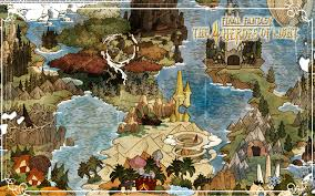 Final Fantasy 2 World Map by Final Fantasy The 4 Heroes Of Light Wallpaper The Final Fantasy