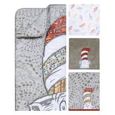 Cat In The Hat Crib Bedding Set Trend Lab Dr Seuss Peek A Boo Cat In The Hat 4 Crib Bedding