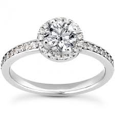 diamond shaped rings images Prong and bead set diamond engagement ring with bead set round jpg