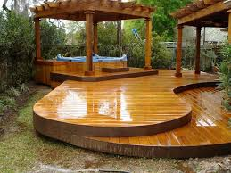 natural awesome design of the free standing wood deck design that