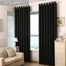Thick Black Curtains Thick Solid Polyester Modern Curtains For Living Room Bedroom