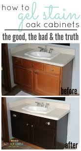staining kitchen cabinets with gel stain how to use gel stain on cabinets the the bad