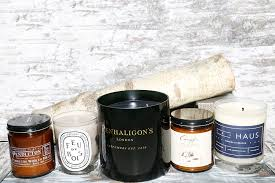 wood scented candles into the gloss