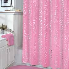 Pink Sparkle Curtains 75 Inch Veratex Pink Shower Curtain With Consumer Reviews Pink