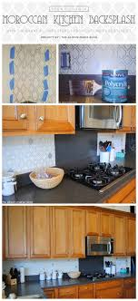 diy kitchen backsplash stenciling a moroccan kitchen backsplash stencil stories stencil