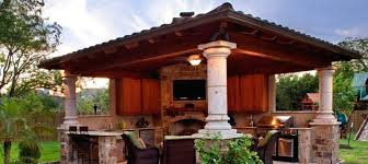outdoor kitchen roof ideas outdoor kitchen with fireplace fitbooster me