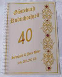 hochzeitstage jubil um geschenk rubinhochzeit jubiläum 40 hochzeitstag festzeitung