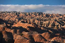 South Dakota mountains images Usa south dakota mountains in morning fog in badlands national jpg
