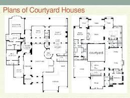 courtyard house floor plans plans courtyard style house plans
