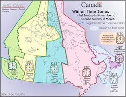 utc zone map zones daylight saving national research council canada