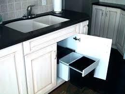 garbage can under the sink home depot kitchen trash cans under sink trash can home depot