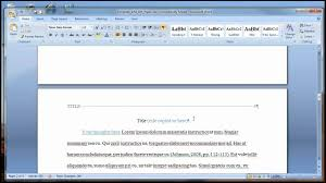 Writing Apa Style Paper Template For Papers In Soc 203 Apa Format Youtube