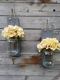 Wall Sconce Set Of 2 Amazon Com Tennessee Wicks Handcrafted Rustic Weathered Gray