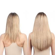 Before After Hair Extensions by 16 Inch Clip In Hair Extensions U2013 100 Human Hair Extension