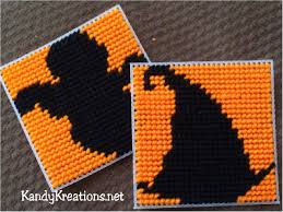 halloween coasters plastic canvas pattern everyday parties