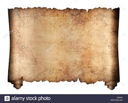 Treasure Map Blank old treasure map scroll isolated 3d illustration stock photo