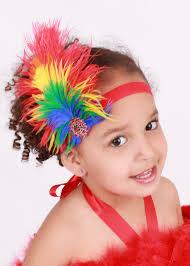 Halloween Costumes Parrots Ready Ship Paradise Parrot Stretchy Feather Headband Rainbow