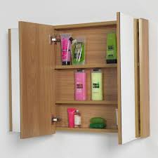 chic design wooden bathroom cabinet with mirror on bathroom mirror