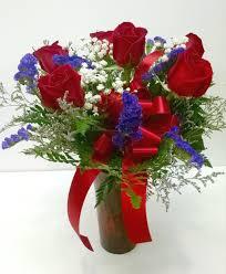 dozen roses half dozen roses arranged in larned ks country seasons flower