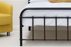 henley black metal hospital dorm style bed frame single double