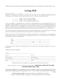 Free Printable Power Of Attorney Forms Online by Free Copy Of Living Will By Richard Cataman Living Will Sample