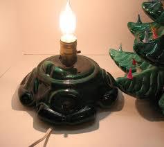 Vintage Atlantic Mold Ceramic Christmas Tree by Very Large Vintage Ceramic Christmas Tree Light Up Base Faux