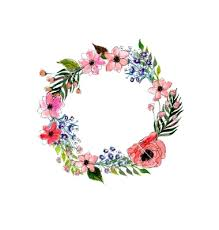 flower wreath watercolor flowers wreath vector 4275986 by lolya1988 on