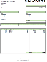 Free Purchase Order Template Excel Excel Purchase Order Template Excel Made Easy