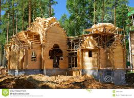 log cabin design plans building of the new log house royalty free stock images image