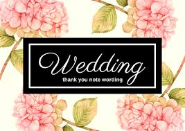 wedding gift note wedding gift thank you notes lovely wording for cards