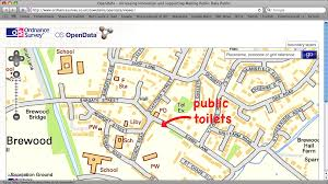 Google Maps Embed Ordnance Survey Public Toilets And