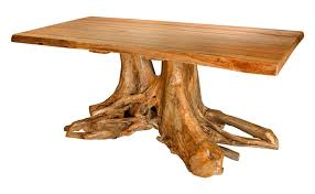 tree trunk dining table lodge tree trunk dining table base cabin bases looks like throughout