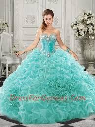 quinceanera dresses aqua really aqua blue quinceanera dress with beading and ruffles