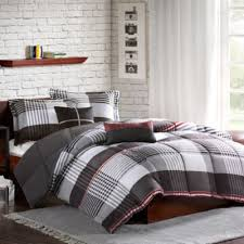 Twin Plaid Bedding by