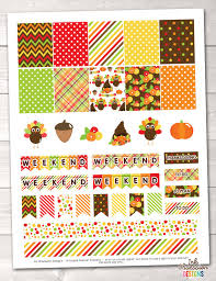 thanksgiving stickers printable thanksgiving planner stickers instant