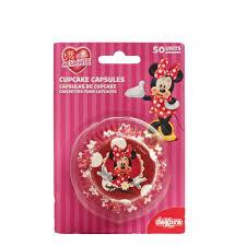 cuisine de minnie minnie cupcake capsule 5cm d x h 3cm dekora