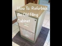 How To Paint A Filing Cabinet How To Refurbish An Old Filing Cabinet Youtube