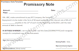 promissory note template word 88106330 jpg letter template word