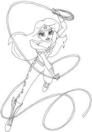 free printable super hero coloring pages woman super