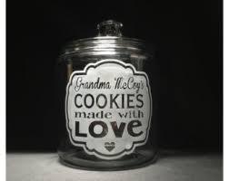 personalized cookie jars custom cookie jar etsy